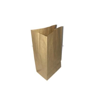 Пакет бумажный, крафт, б/п, 120*85*240
