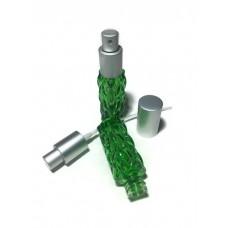 Флакон спрей для духов 15 мл зелёный